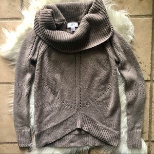 Ann Taylor Loft Knitted Cowl Neck Sweater